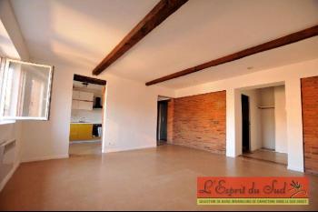 Bel appartement sans vis à vis, poutres et briques